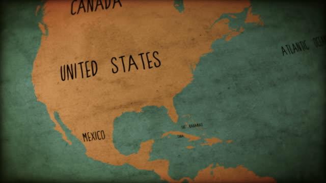 Vintage Old World Map Seamless Loop video
