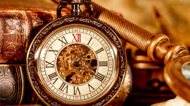 Vintage pocket watch video