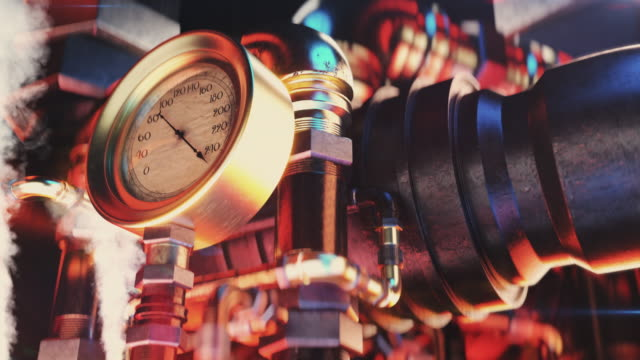 vintage tryckmätare skakar, indikatorpil vid maximal kapacitet, katastrof - värmepump bildbanksvideor och videomaterial från bakom kulisserna