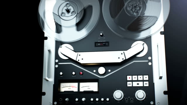 Vintage reel to reel tape. Old Retro Reel Audio Recorder police interview stock videos & royalty-free footage