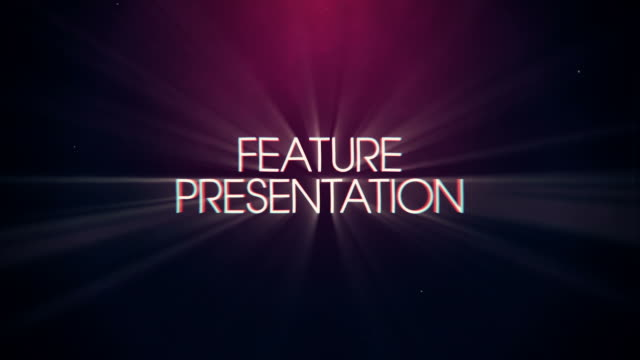 Vintage Retro Feature Presentation Title and Background  presentation stock videos & royalty-free footage