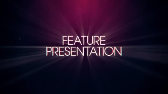 vídeos de stock, filmes e b-roll de vintage retrô apresenta título da apresentação e fundo - prêmio