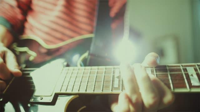 Vintage rock series: guitar player