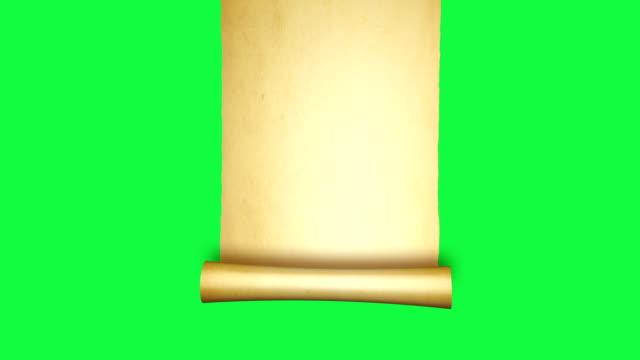 vintage rolle per gament - schriftrolle stock-videos und b-roll-filmmaterial