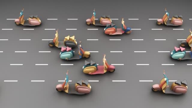vintage scooter in pink tone concept  Transportation 3d rendering