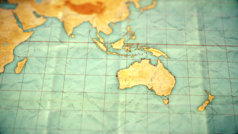 vídeos y material grabado en eventos de stock de vintage sepia color mapamundi - zoom para australia - versión en blanco - europa continente