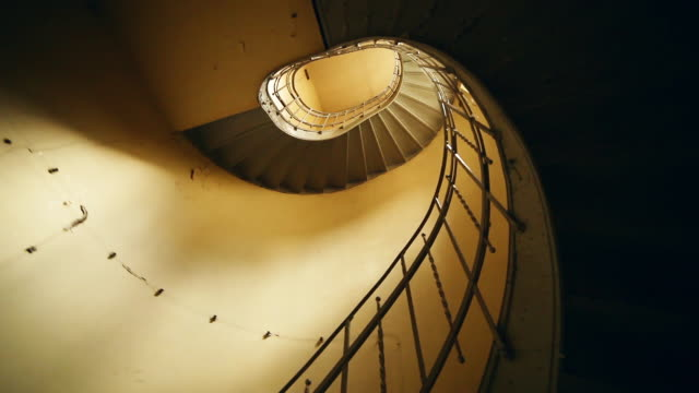 vintage spiral staircase - neoclassical architecture stock videos & royalty-free footage