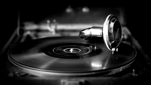 Vintage style Video of Old Gramophone, loopable video