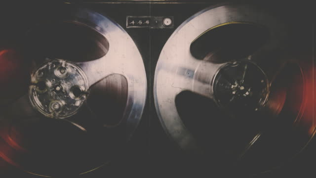 vintage registratore riproduzione - hippy video stock e b–roll