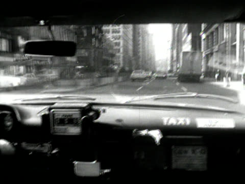 Vintage Taxi Ride in New York video