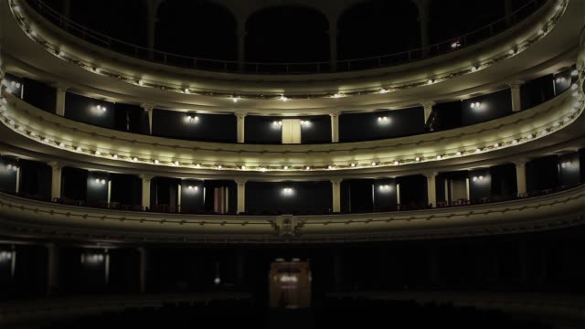 ヴィンテージシアターインテリア。 - オペラ点の映像素材/bロール