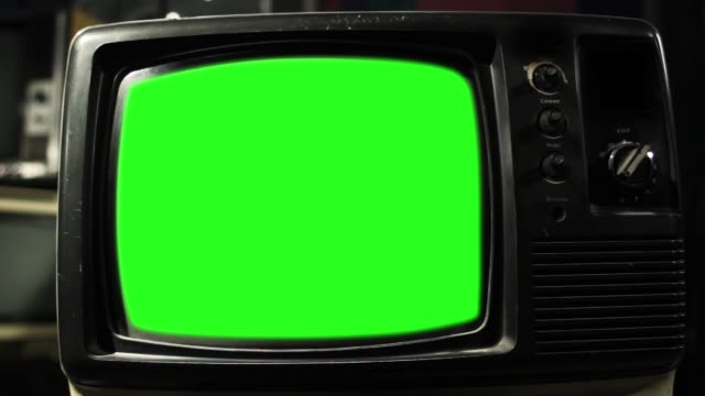 Vintage Tv Green Screen. Aesthetics Of The 80S. Vintage Tv Green Screen. Aesthetics of the 80s. Ready to replace green screen with any footage or picture you want. Full HD. hd format stock videos & royalty-free footage