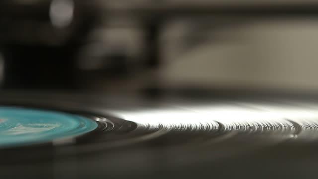 Vinyl on turntable video