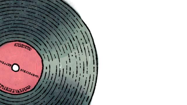Vinyl record (Closeup) + alpha matte video