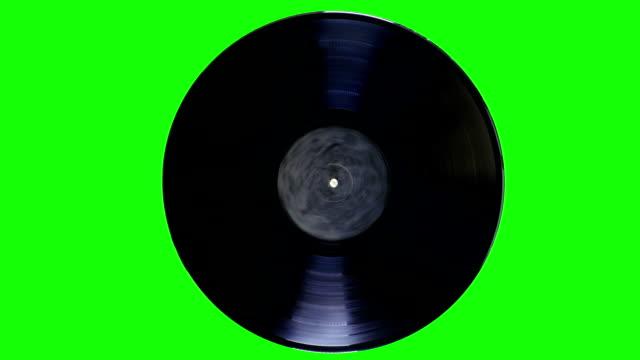 vídeos y material grabado en eventos de stock de registro de vinilo es giratorio - disco audio analógico