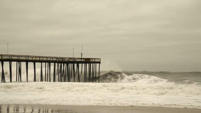 Violent Storm Surge in Ocean City Violent Storm Surge in Ocean City season stock videos & royalty-free footage