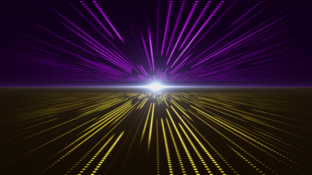 Violet and Yellow abstract technology digital background perspective with light