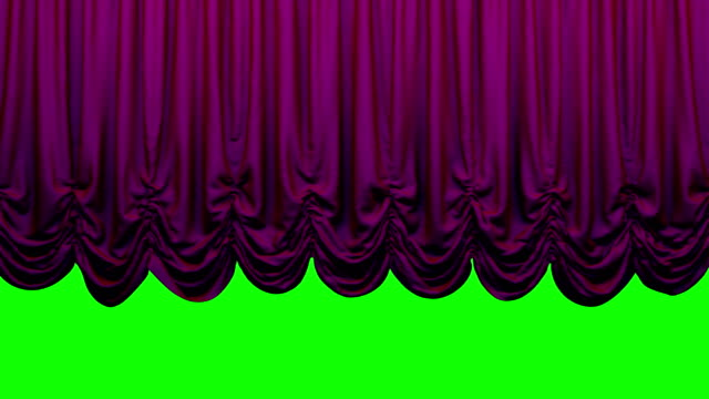 Violet  Austrian Theater Stage Curtain go UP and DOWN. Animation is looped. Chroma key. High quality video in 4k resolion. opening event stock videos & royalty-free footage