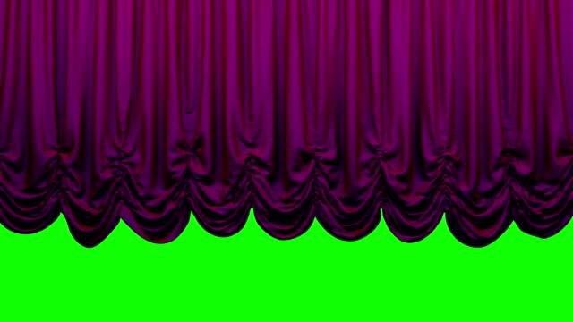 vídeos de stock, filmes e b-roll de cortina de palco violeta austríaco teatro ir acima e para baixo. - arte, cultura e espetáculo