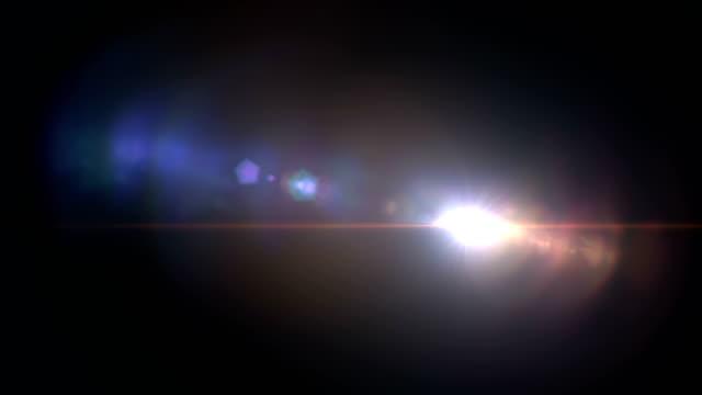 紫色 藍色明亮的鏡頭耀斑閃爍洩漏燈效果 - 鏡頭眩光 個影片檔及 b 捲影像