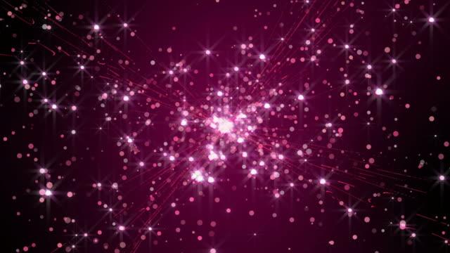 紫の星の輝き暗い背景のテクスチャ。 - ピンク色点の映像素材/bロール