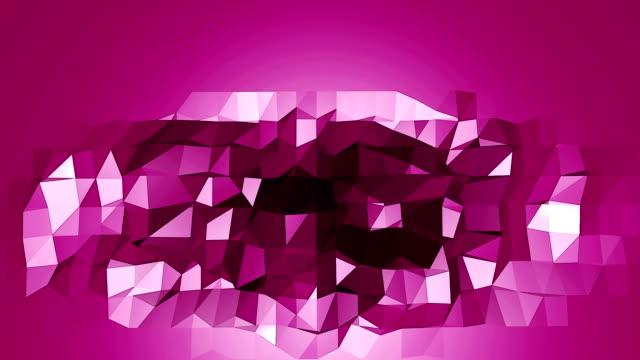 vídeos y material grabado en eventos de stock de violeta o púrpura bajo poli que agitan la superficie - descarga eléctrica