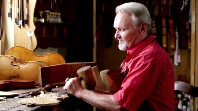 Violin Maker in his Workshop video