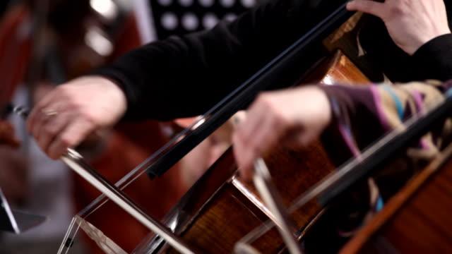 Violoncello players video