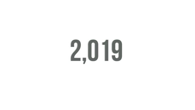 Viral alpha counter counting from Year 1 to 2019 Viral alpha counter counting from Year 1 to 2019. checkout stock videos & royalty-free footage