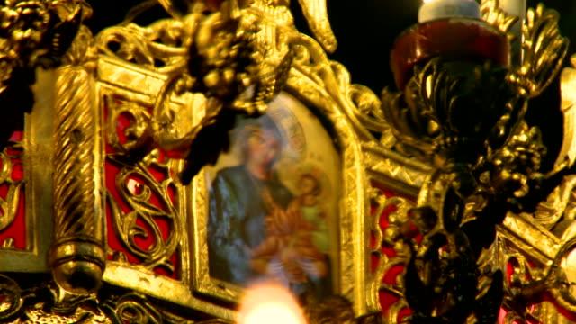 stockvideo's en b-roll-footage met virgin mary and the infant - nieuwe testament