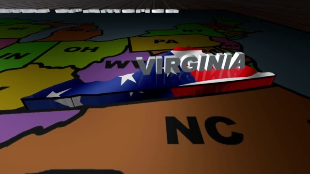 Virginia pull out from USA states abbreviations map video