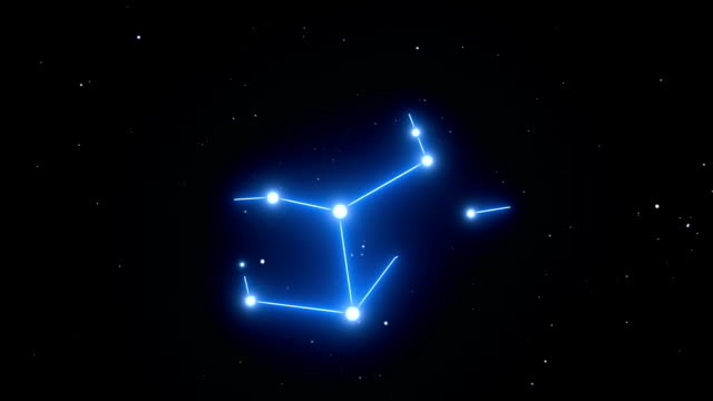 Virgo Constellation on a Beautiful Starry Night Background video