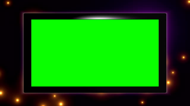 Virtual HD TV screen monitor video