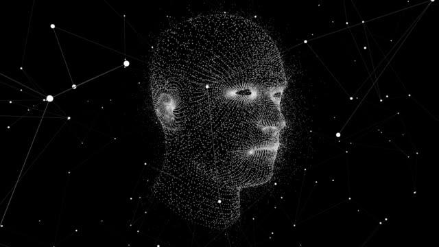 vídeos y material grabado en eventos de stock de cabeza humana virtual. 3d motion graphics - copiar