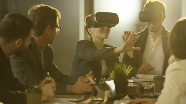 Virtual Reality in a Business Meeting video