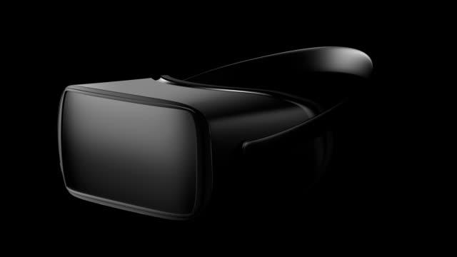 Masque de réalité virtuelle 3d. Futur est maintenant. Bouchent. Transition de casque avec alpha chanel, transparence, masque sur le verre. Aperçu de VR. - Vidéo