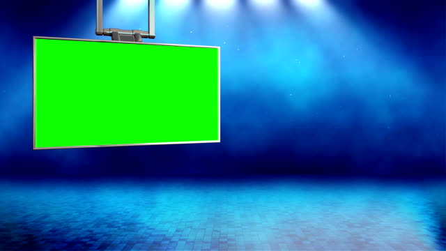 Virtual Set 11 - News Studio Chroma Background video
