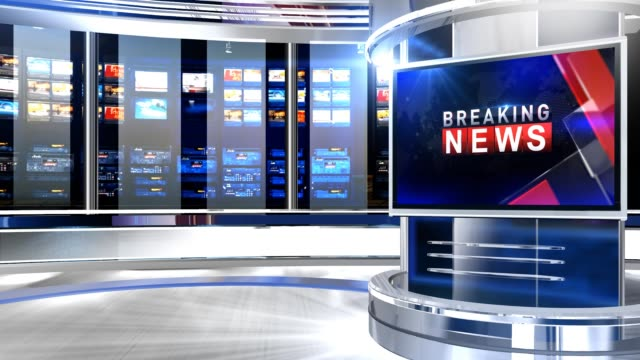 virtuellt studio newsroom c3 - dekor bildbanksvideor och videomaterial från bakom kulisserna