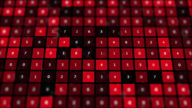 Virus infected malware computer data on screen.