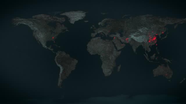 ein virus breitet sich auf der ganzen welt aus - a - europa kontinent stock-videos und b-roll-filmmaterial