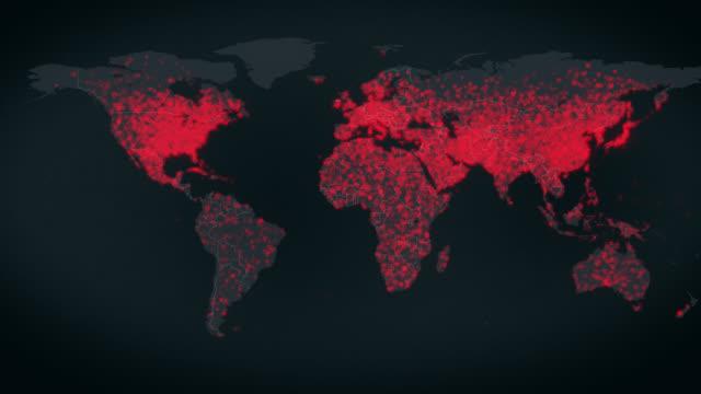virus spreads around the world - e - rozkładać filmów i materiałów b-roll