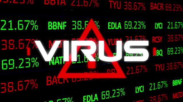 Virus text against Stock market data processing