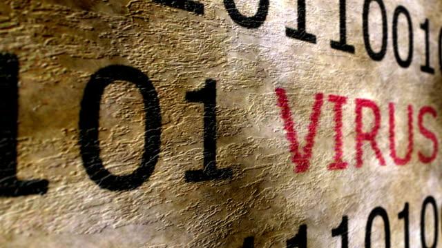 グランジ コンセプト ウイルス本文 - なりすまし犯罪点の映像素材/bロール