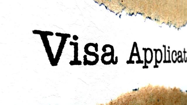 Visa application Visa application schengen agreement stock videos & royalty-free footage