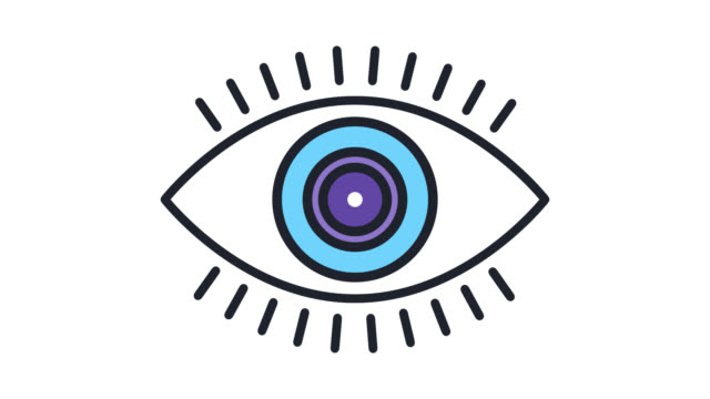 Vision Check Flat Line Icon Animation with Alpha Vision check motion graphic flat line icon animation. Alpha channel will be included when downloading the 4K Apple ProRes 4444 file only. eye exam stock videos & royalty-free footage