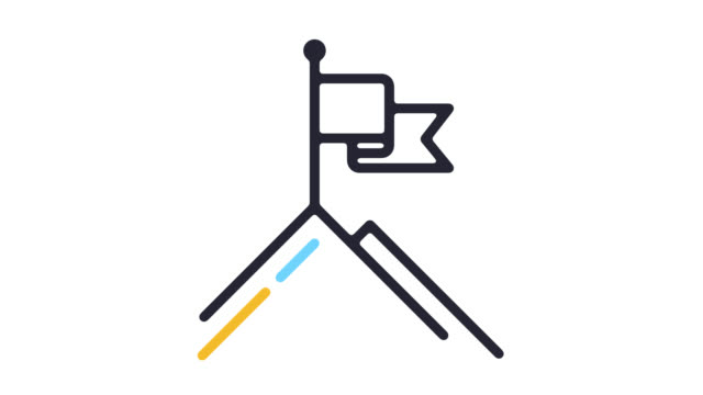 vision statement line icon animation with alpha - goals filmów i materiałów b-roll