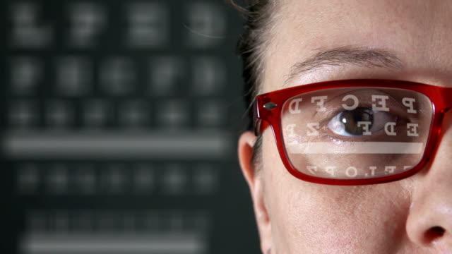 Vision test Eye test chart eye exam stock videos & royalty-free footage