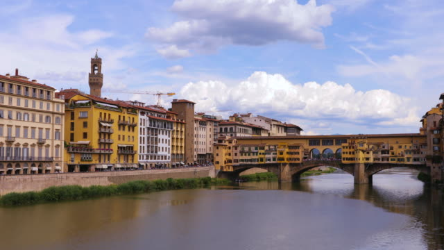 Visit to Florence, Italy, Ponte Vecchio in a sunny day