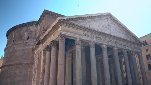vídeos de stock, filmes e b-roll de visitar o panteão de roma - civilização milenar