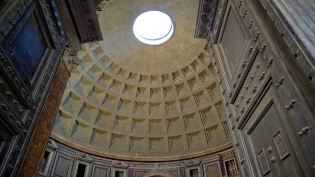 panteon roma ziyaret - roma i̇talya stok videoları ve detay görüntü çekimi